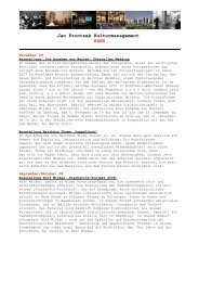 Jan Frontzek Kulturmanagement NEWS - janfrontzek.de