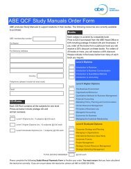 ABE QCF Study Manuals Order Form - Association of Business ...