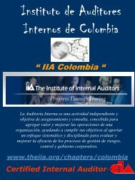 Afíliese al IIA-Colombia - The Institute of Internal Auditors