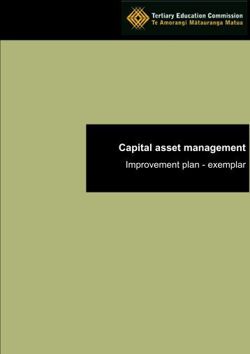 Capital asset management: Improvement plan - Tertiary Education ...