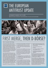The European Antitrust Update - Fried Frank