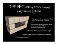 Tracking with DESPEC