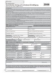 Vereinfachter Antrag auf Lohnsteuer-Ermäßigung 2006