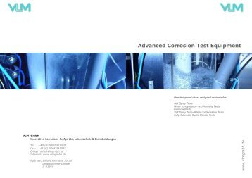 Advanced Corrosion Test Equipment - acefe s.a.
