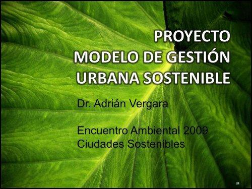 proyecto modelo de gestión urbana sostenible - Universidad del Norte
