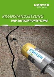 Rissinstandsetzung und Rissinjektion - Köster Bauchemie AG