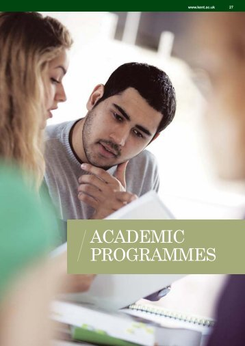 ACADEMIC PROGRAMMES - Study in the UK