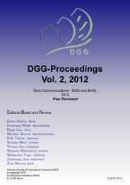 Untersuchungen zum Einfluss von Wasser und organischer ... - DGG