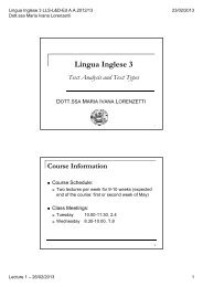 Lingua Inglese 3 - Lecture 01 - 26/02/2013 (pdf, en, 163 KB, 2/25/13)