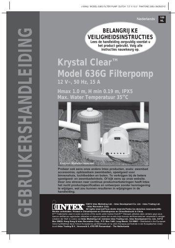 Filterpomp 5678 lt - 56636NL >2013 - Nicotoy
