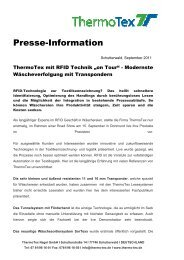 Presse-Information - ThermoTex
