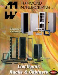 Hammond Mfg. Co. - Electronic Racks & Cabinets