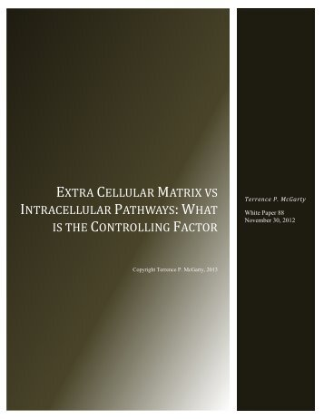 Extracellular Matrix vs. Intracellular Pathways - Telmarc Group