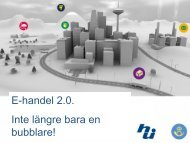 E-handel 2.0. Inte längre bara en bubblare!