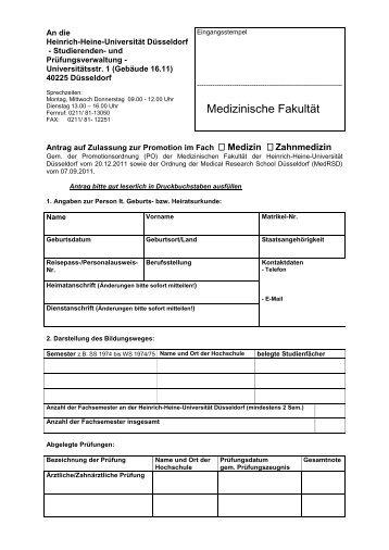 hhu medizin dissertation