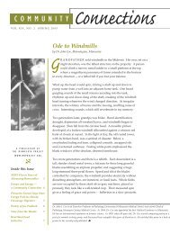 Side bar page 7 of Community Connections, Spring 2005, 205kb pdf