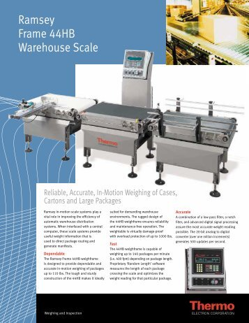 Ramsey Frame 44HB Warehouse Scale