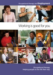 Working is good for you - College of Occupational Therapists