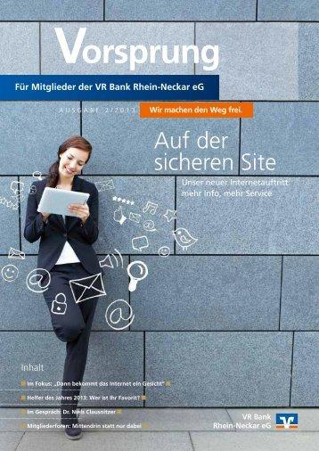 Mitgliederzeitung downloaden (PDF, 1,3 MB) - VR Bank Rhein ...
