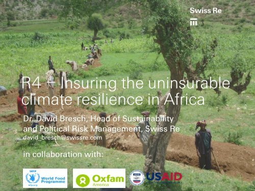 The R4 Rural Resilience Initiative - Protecting Livelihoods in a ...