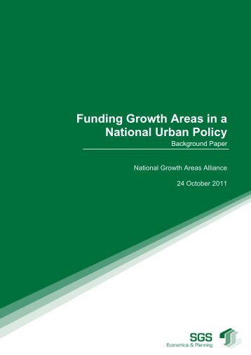 Funding Growth Areas in a National Urban Policy - Background paper