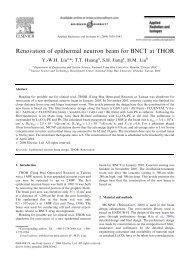 Renovation of epithermal neutron beam for BNCT at THOR