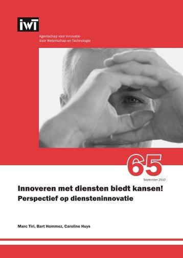 Innoveren met diensten biedt kansen! - Vlaams ...