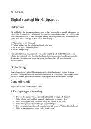 Digital strategi för Miljöpartiet - Miljöpartiet de gröna