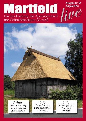 Die Dorfzeitung der Gemeinschaft der ... - Martfeld Live