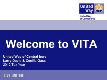 VITA - United Way of Central Iowa