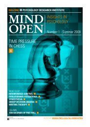 TIME PRESSURE IN CHESS - MindOpen