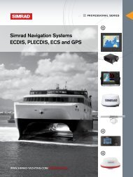 Navigation and Charting Systems - Simrad Professional Series ...