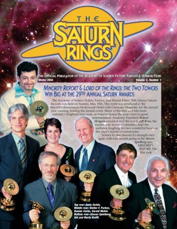 LORD OF THE RINGS - Saturn Awards