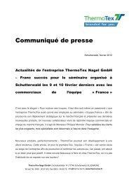 Communiqué de presse -  ThermoTex