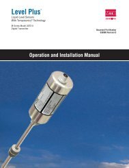 M-Series Model USTDII Digital Transmitter ... - MTS Sensors