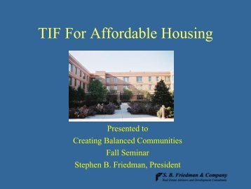 TIF for Affordable Housing - OneCPD