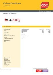 Online Certificate - micePLACES