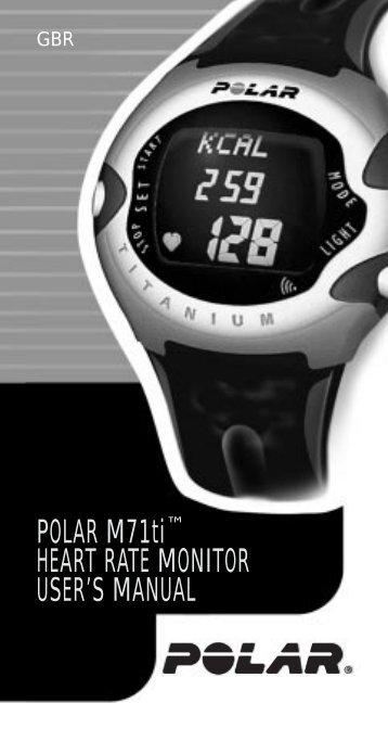 "POLAR M71tiâ""¢ HEART RATE MONITOR USER'S ... - Sark Products"
