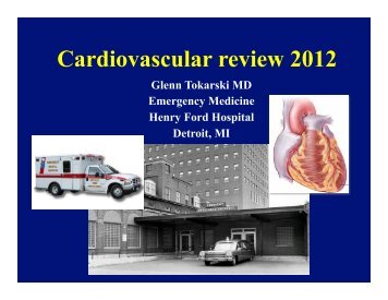 cardiology review 2012 - Emergency Medicine