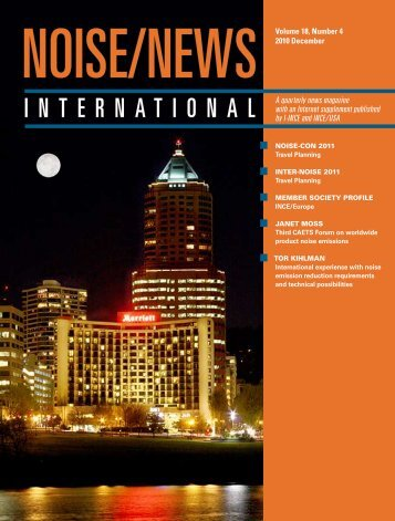 Volume 18, Number 4, December, 2010 - Noise News International