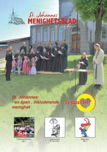 St. Johannes: - en åpen , inkluderende menighet - Kirken i Stavanger