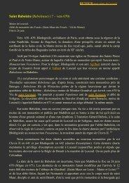 Saint Babolein (Babolenus) ( ? – vers 670) - L'association des Amis ...