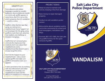 GRAFFITI 411 - Salt Lake City Police Department