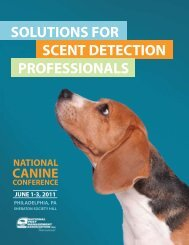 solutions for scent detection professionals - National Pest ...