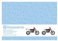 Parts Catalogue 2009 WR/CR 125 - Husqvarna