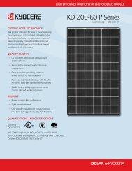 KD 200-60 P Series - KYOCERA Solar