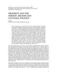 Property and the Person - Tendencias de Moda