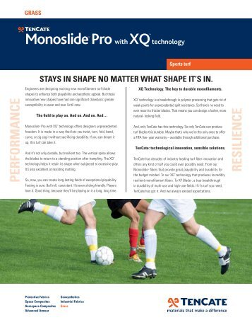 MonosIide Pro with XQtechnology PERFORMANCE ... - TenCate
