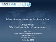 Directions for Effective Product Security Assessment - Build Security In