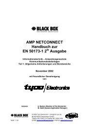 AMP NETCONNECT Handbuch zur EN 50173-1 ... - bei Thum + Mahr!